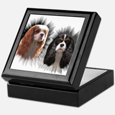 Tricolor Blenheim Cavalier Starburst Keepsake Box
