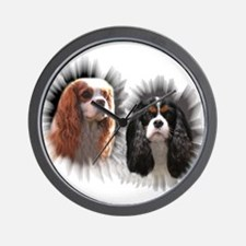 Tricolor Blenheim Cavalier Starburst Wall Clock