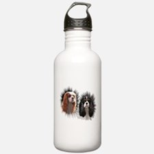 Tricolor Blenheim Cavalier Starburst Water Bottle