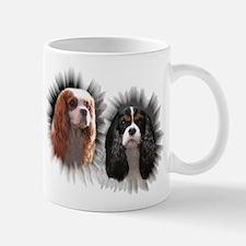 Tricolor Blenheim Cavalier Starburst Mug