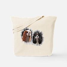 Tricolor Blenheim Cavalier Starburst Tote Bag