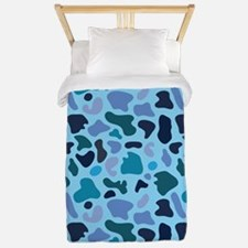 Blue Leopard Twin Duvet