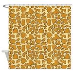 Golden Leopard Leopard Outline Shower Curtain