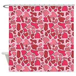 Pink Leopard Outline Shower Curtain