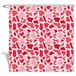 Pink Leopard Shower Curtain