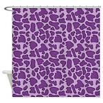 Purple Leopard Outline Shower Curtain