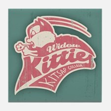 Widow Kitties Team Logo Tile Coaster