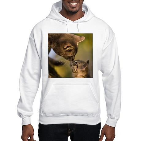 Kitten kiss Hooded Sweatshirt