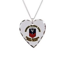 Mass Communication Specialist Necklace Heart Charm