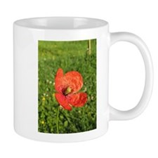 Single Red Poppy Mug