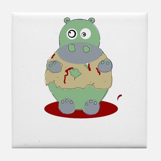 ZOMBIE HIPPO Tile Coaster