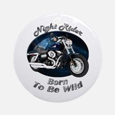 HD Fat Bob Ornament (Round)