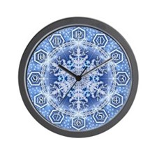 Snowflake 34 Wall Clock