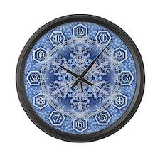 Snowflake 34 Large Wall Clock