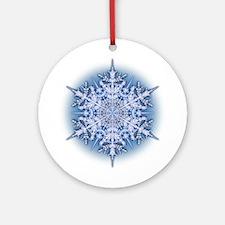 Snowflake 34 Ornament (Round)