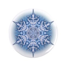 """Snowflake 34 3.5"""" Button (100 pack)"""
