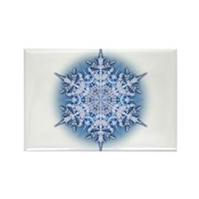 Snowflake 34 Rectangle Magnet (100 pack)