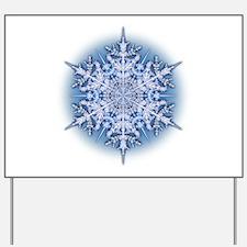 Snowflake 34 Yard Sign
