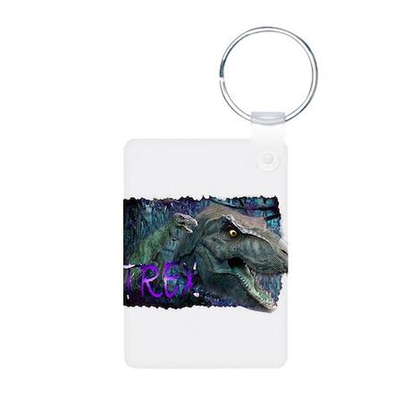 trex dinosaur Aluminum Photo Keychain