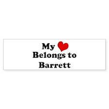 My Heart: Barrett Bumper Bumper Sticker