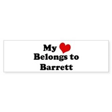 My Heart: Barrett Bumper Bumper Sticker
