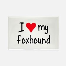 I LOVE MY Foxhound Rectangle Magnet (10 pack)