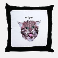 cat meow Throw Pillow