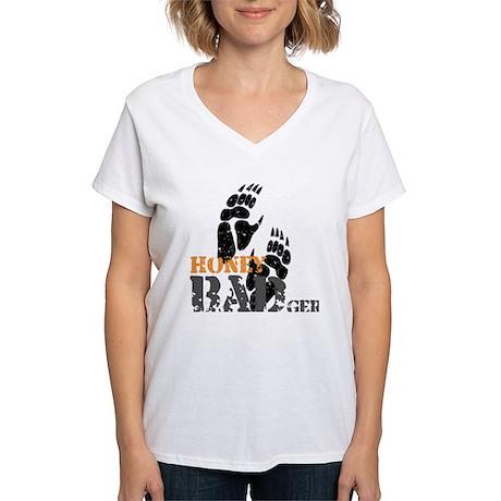 Honey Badger Don't care Women's V-Neck T-Shirt