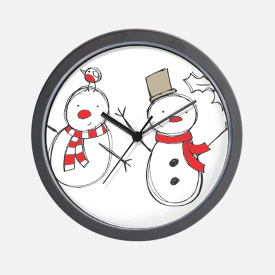 Snowmen Wall Clock
