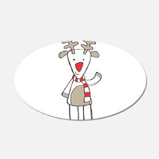 Reindeer 22x14 Oval Wall Peel