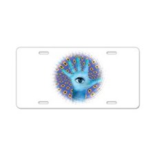 protective hand Aluminum License Plate