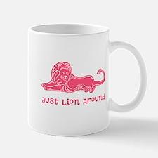 Lion Around (rose) Mug