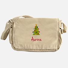 Christmas Tree Aurora Messenger Bag