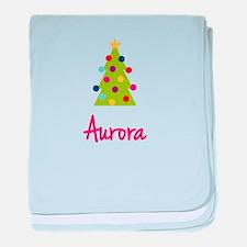 Christmas Tree Aurora baby blanket