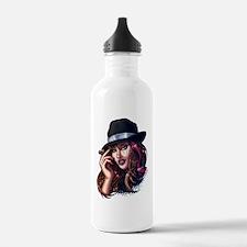 Smoking Gangster Girl Water Bottle
