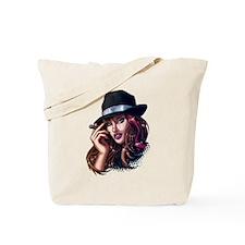 Smoking Gangster Girl Tote Bag