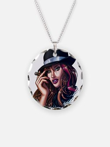 Smoking Gangster Girl Necklace