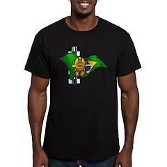 Brazilian Racing Driver Men's Fitted T-Shirt (dark