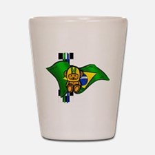 Brazilian Racing Shot Glass