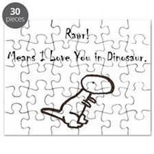 Rawr Means I Love You in Dino Puzzle