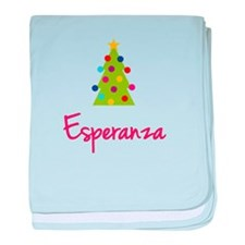 Christmas Tree Esperanza baby blanket