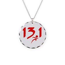 Red 13.1 half-marathon Necklace