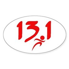 Red 13.1 half-marathon Decal