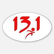 Red 13.1 half-marathon Decal