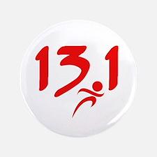 """Red 13.1 half-marathon 3.5"""" Button (100 pack)"""