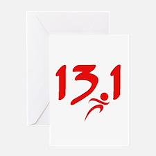 Red 13.1 half-marathon Greeting Card