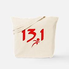 Red 13.1 half-marathon Tote Bag