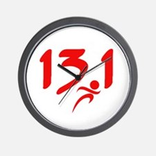 Red 13.1 half-marathon Wall Clock