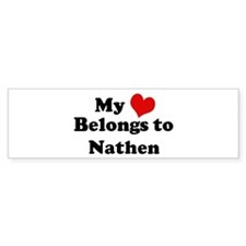 My Heart: Nathen Bumper Car Sticker