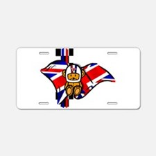 British Racing Aluminum License Plate